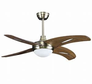 Wood ceiling light fan