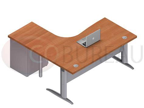 bureau 160 cm bureau compact 160 cm pro métal avec caisson métallique