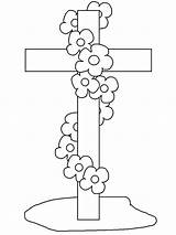 Funeral Coloring Cross Sun Button Using Template Grab Could Well sketch template