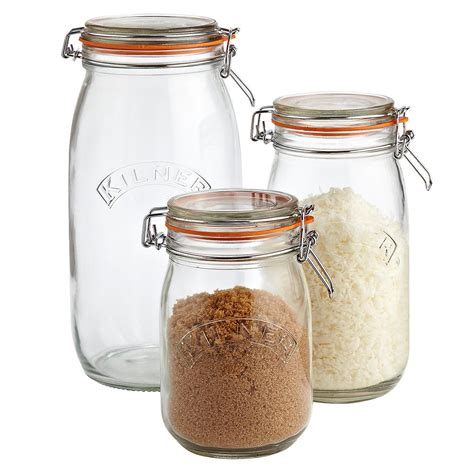 glass kitchen canister set of kilner hermetic glass jars the container store