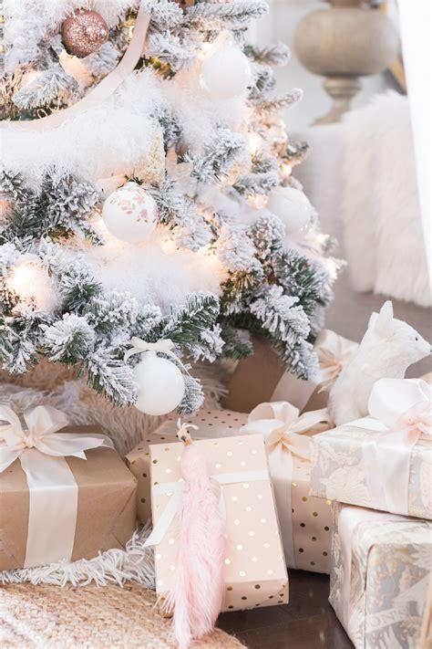 blush  copper christmas tree