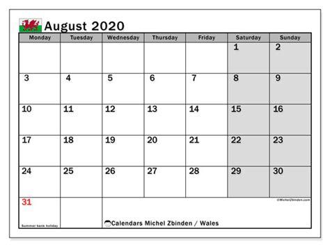 august  calendar wales uk michel zbinden en