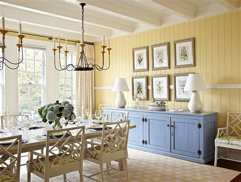 Yellow And Blue Interiors Living Rooms, Bedrooms, Kitchens