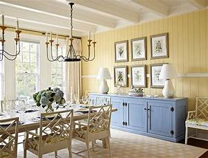 Yellow and blue interiors living rooms bedrooms kitchens for What kind of paint to use on kitchen cabinets for green canvas wall art