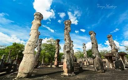 Sri Lanka Ancient Polonnaruwa Buildings Ruins Wallpapers
