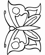 Coloring Butterfly Printable Popular sketch template