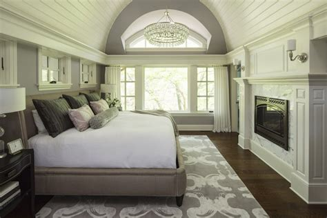 Rug Pad Hardwood Floor by Barrel Ceiling Transitional Bedroom Sherwin Williams