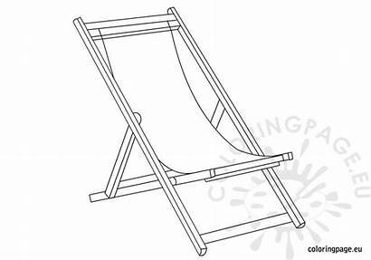 Deckchair Coloring Chairs Pages Chair Deck Beach