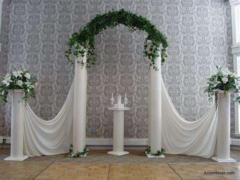 Wedding Column And Arches Decoration Ideas