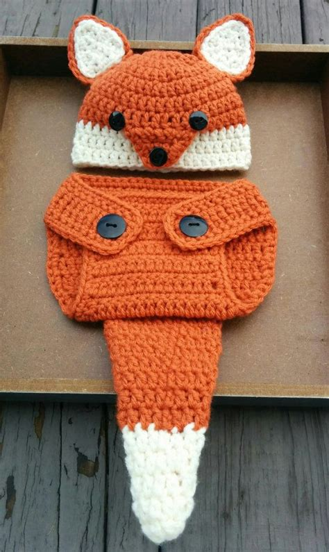 Free Crochet Diaper Cover Pattern 0 3 Months by Newborn Crochet Fox Outfit Pattern 0 3 Months Fox Hat