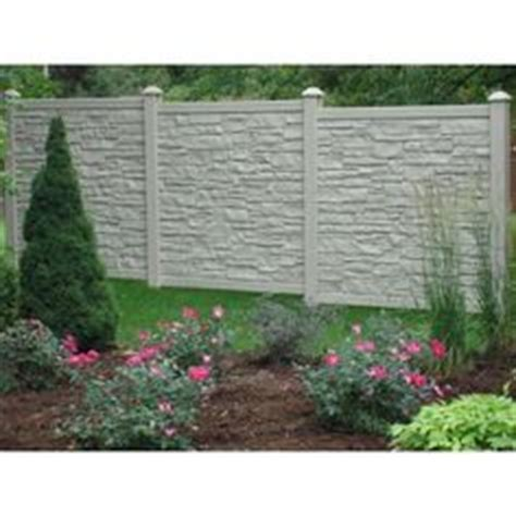 simtek ecostone  ft    ft  beige composite fence panel pinterest fence panel fences
