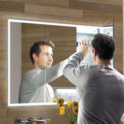 hib vanquish  led demisting recessed mirror cabinet