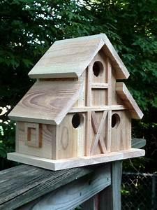 Birdhouse, Folk, Art, Primitives, 4, Nest, Bird, House, Barn