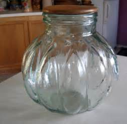 glass kitchen canisters large vintage glass canister apothecary jar wooden lid made in italy ebay