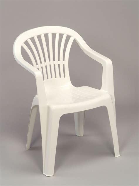 fauteuil jardin plastique blanc empilable dossier bas tiny