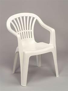 Chaise Blanche Plastique : fauteuil jardin plastique blanc empilable dossier bas tiny hoob ~ Teatrodelosmanantiales.com Idées de Décoration