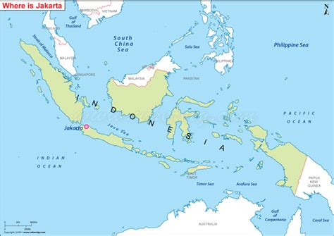 jakarta indonesia map world