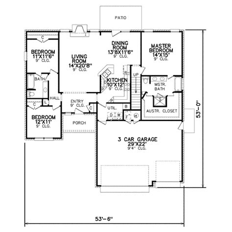 Traditional Style House Plan  3 Beds 200 Baths 1973 Sq