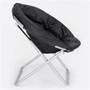 folding moon chair accent lounger papasan portable furniture gaming seat au ebay