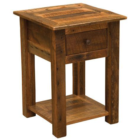 Open Nightstand by Barnwood One Drawer Nightstand With Open Shelf