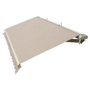 gudcraft retractable    patio awning ft  ft    solid beige color patio