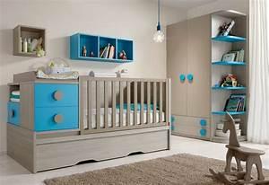 Deco Chambre Bebe Bleu : deco chambre bebe garcon bleu ~ Teatrodelosmanantiales.com Idées de Décoration