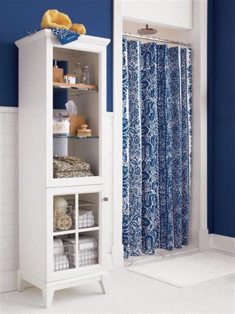 blue and white shower curtain shower curtain blues hgtv