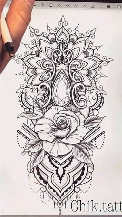 Tattoo Mandala Tattoos Rose Sleeve Flower Arm