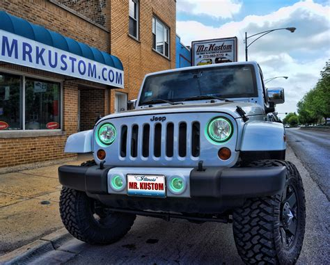 blue green jeep multi color halo lights and led strip lighting 2012 jeep