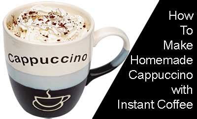 The chestnut praline latte is the coffee retailer's first new holiday drink in five years. How to Make Homemade Cappuccino with Instant Coffee