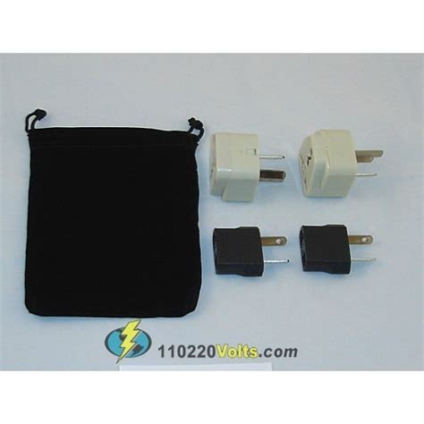 tonga power adapters kit with travel carrying pouch