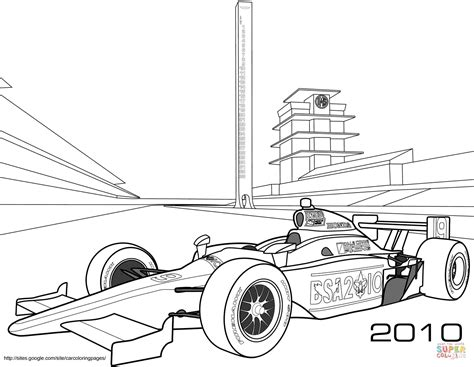 indy race car coloring pages coloring pages