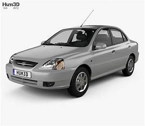 Kia Rio 2002 3d Model