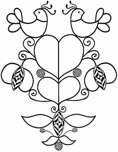 Dutch Pennsylvania Coloring Hex Folk Pages Designs