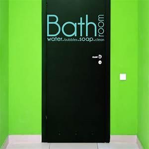 Stickers Porte Salle De Bain : sticker texte pour porte de salle de bain bathroom water ~ Dailycaller-alerts.com Idées de Décoration