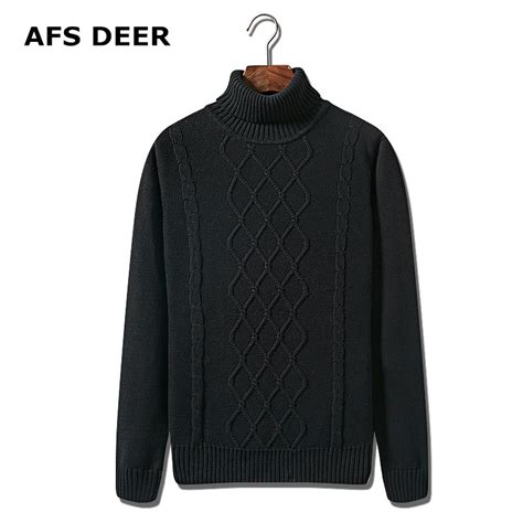 mens black sweater 2017 pullover sweater brand mens black turtleneck