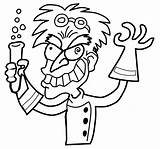 Mad Scientist Coloring Pages Getcolorings Colori sketch template
