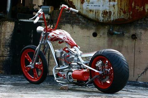 Ape Hanger Handlebars On A Custom Motorcycle Chopper