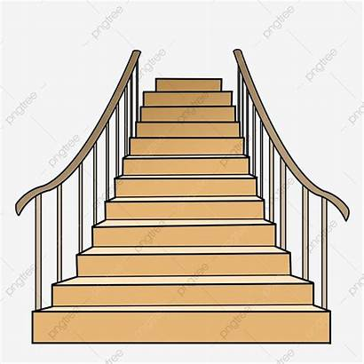 Stairs Cartoon Wooden Illustration Clipart Steps Transparent