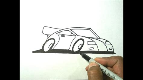 draw cartoon car  sharpie marker version