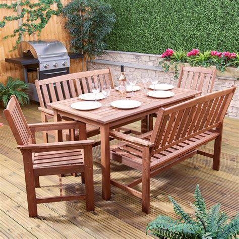 monaco rectangular wooden outdoor garden furniture dining