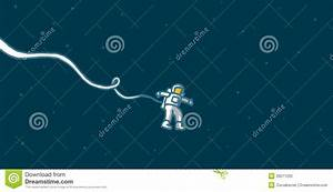 Lonely Astronaut In Space Stock Vector - Image: 39511260
