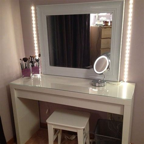 ikea lighted mirror vanity table with mirror and bench ikea vanities