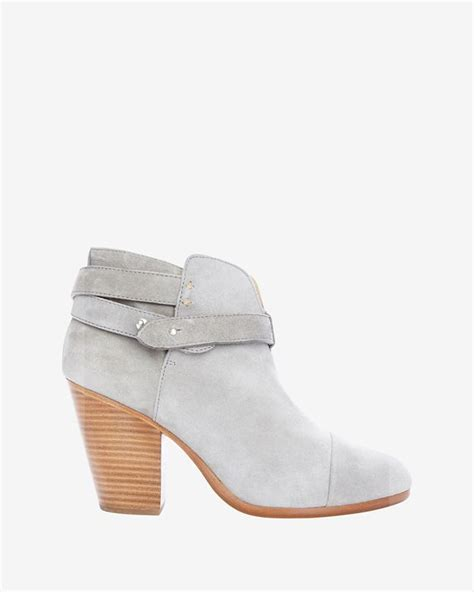 light grey booties rag bone harrow suede booties grey in gray lyst