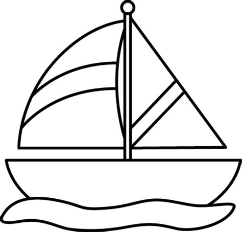 Boat Clipart Outline by Sailing Boat Clipart Outline Pencil And In Color Sailing