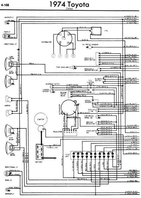 repair manuals toyota celica a20 1974 wiring diagrams