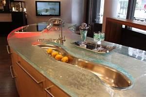 Recouvrir Un Plan De Travail : 10 plans de travail en verre tr s styl s pour la cuisine ~ Dailycaller-alerts.com Idées de Décoration