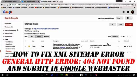 How Fix Xml Sitemap Error Submit Google
