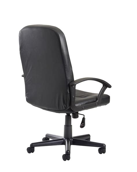 cavalier black leather faced managers chair kps office