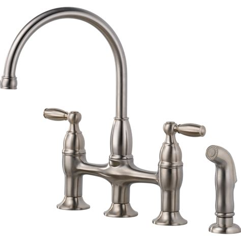 delta high arc kitchen faucet shop delta dennison stainless high arc kitchen faucet with
